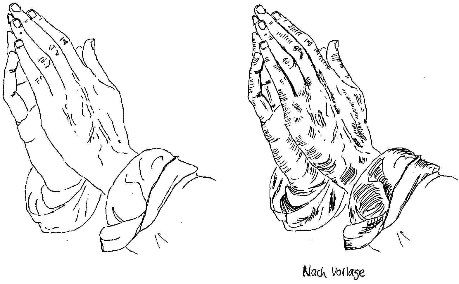 Betende Hande ªby Dogart Betende Hande Tattoo
