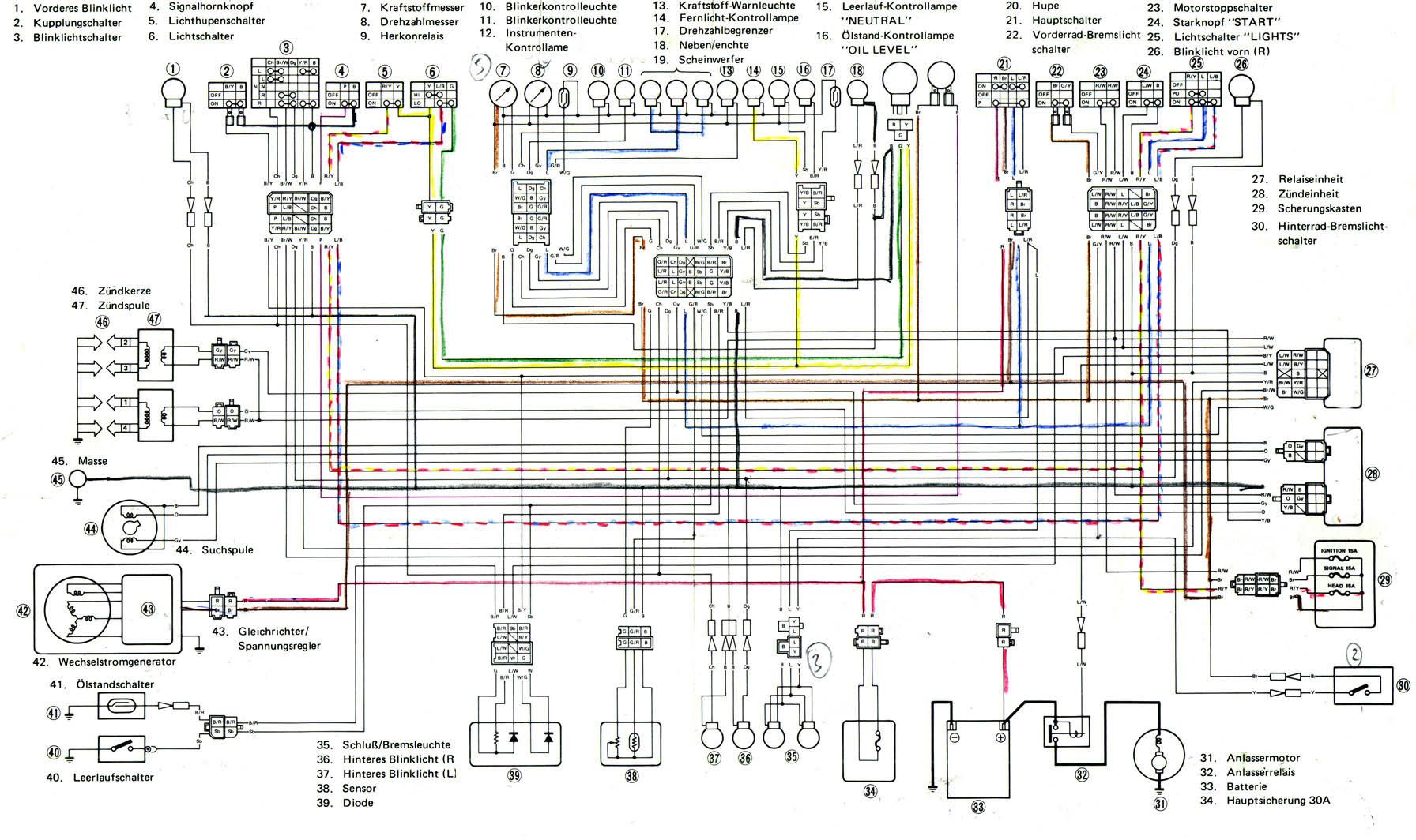 Fein Yamaha 1100 Schaltplan Bilder - Elektrische Schaltplan-Ideen ...